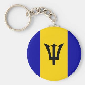 Barbados Flag Key Ring