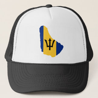 Barbados Flag map BB Trucker Hat