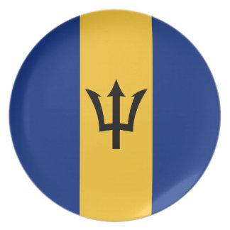 Barbados Flag Plate