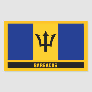 Barbados Flag Rectangular Sticker
