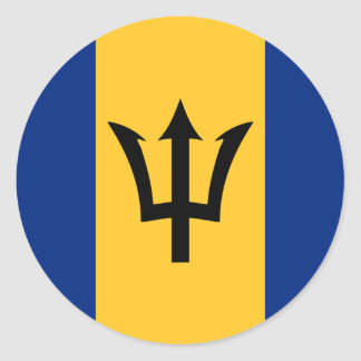 Barbados Flag Round Stickers