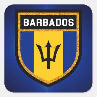 Barbados Flag Square Sticker