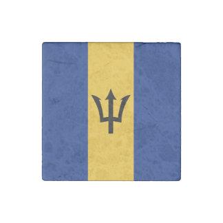 Barbados Flag Stone Magnet