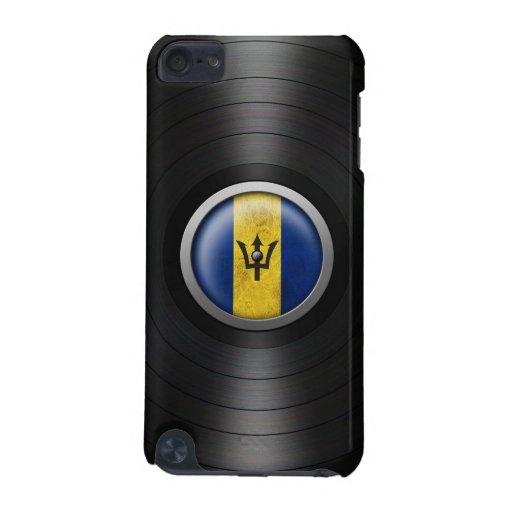 Barbados Flag Vinyl Record Album Graphic iPod Touch 5G Case