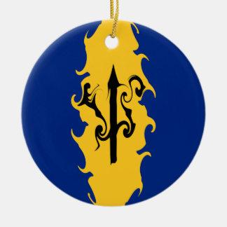Barbados Gnarly Flag Christmas Ornaments