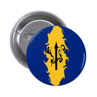 Barbados Gnarly Flag Pinback Buttons