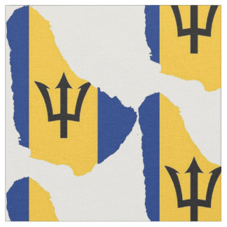Barbados Map Fabric