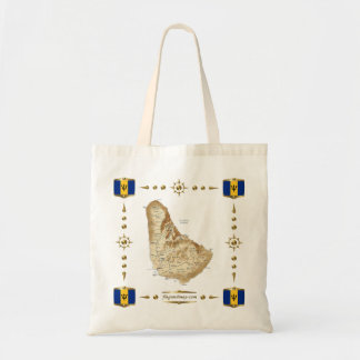 Barbados Map + Flags Bag