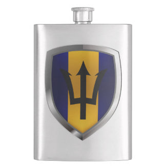 Barbados Mettalic Emblem Hip Flask