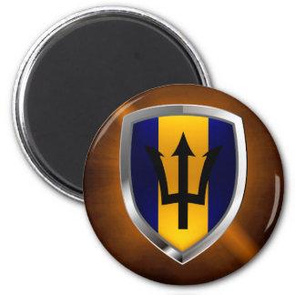 Barbados Mettalic Emblem Magnet