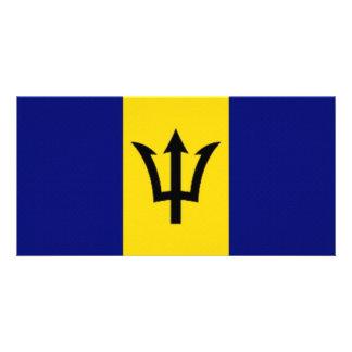 Barbados National Flag Photo Card Template