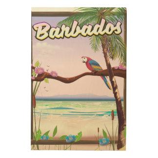 Barbados Parrot Landscape travel poster