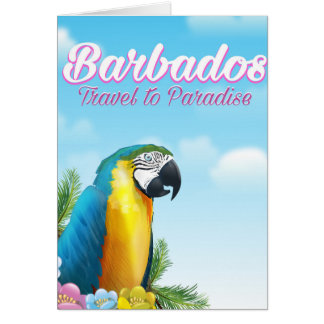 Barbados Parrot travel poster Card