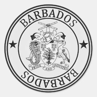 Barbados  Round Emblem Classic Round Sticker