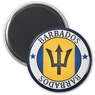 Barbados  Round Emblem Magnet
