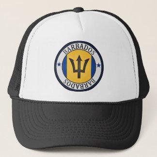 Barbados  Round Emblem Trucker Hat