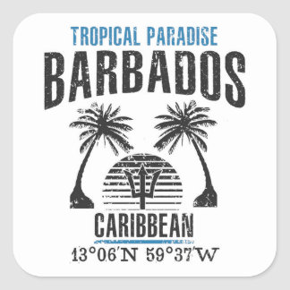 Barbados Square Sticker