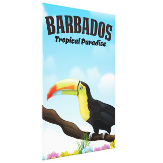 Barbados Tropical Paradise travel poster Canvas Print