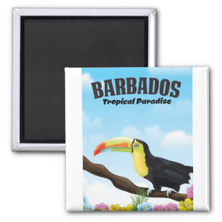Barbados Tropical Paradise travel poster Magnet