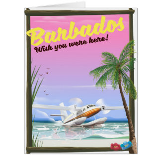 Barbados - wish you were here! card