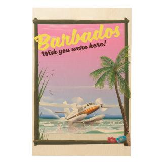 Barbados - wish you were here! wood print