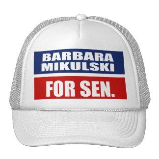 BARBARA MIKULSKI FOR SENATE TRUCKER HAT