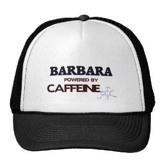 Barbara powered by caffeine mesh hats