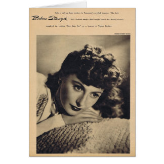 Barbara Stanwyck vintage portrait Card