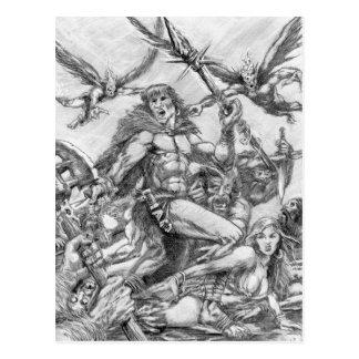Barbarian Apocalypse Art 001 Postcard
