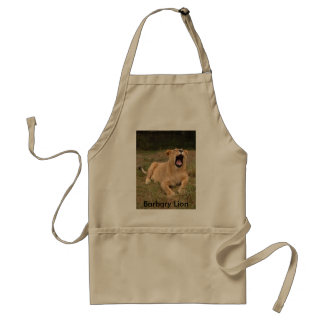 Barbary Lion-nap-002, Barbary Lion Adult Apron