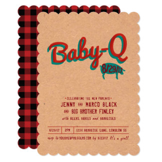 Barbecue Baby Shower Invitation