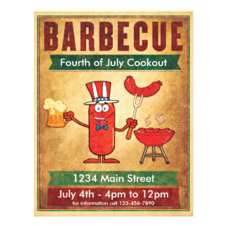 Barbecue Fourth of July Cookout 21.5 Cm X 28 Cm Flyer