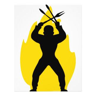 barbecue freak icon 21.5 cm x 28 cm flyer