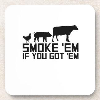 Barbecue Grilling Funny Gif Smoke'Em If You Got'Em Coaster