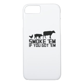 Barbecue Grilling Funny Gif Smoke'Em If You Got'Em iPhone 8/7 Case
