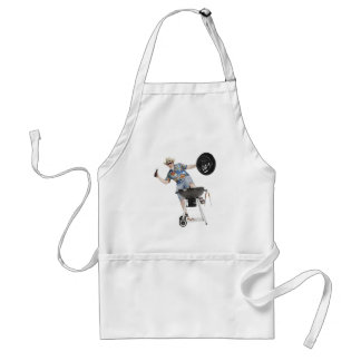 Barbecue Humor BBQ Gift Cookout Summer Grilling Standard Apron