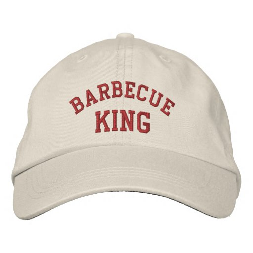 Barbecue King Funny Embroidered Hat
