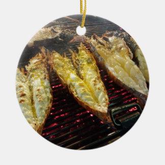 Barbecue Lobster Ceramic Ornament