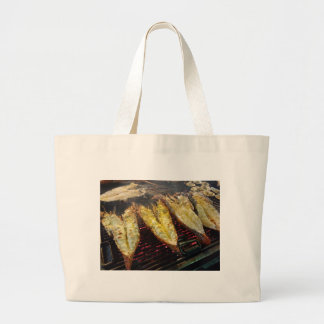 Barbecue Lobster Large Tote Bag