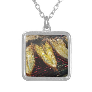 Barbecue Lobster Silver Plated Necklace