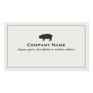 Barbecue Pork Black Sectioned Pig Pack Of Standard Business Cards