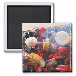 Barbecue Square Magnet