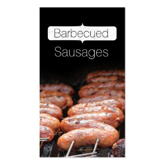 Barbecued Sausages/grill/bbq Pack Of Standard Business Cards