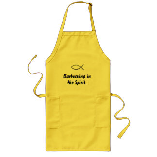 Barbecuing in the Spirit Quote/ Ichthys Apron