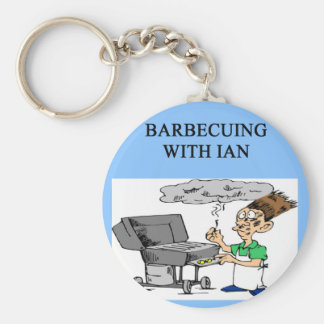 barbecuing with ian basic round button key ring