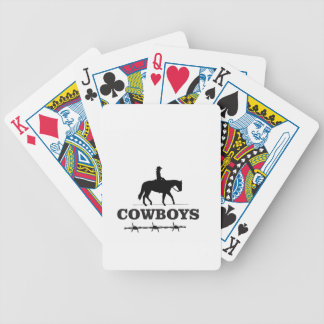 barbed cowboy art bicycle playing cards