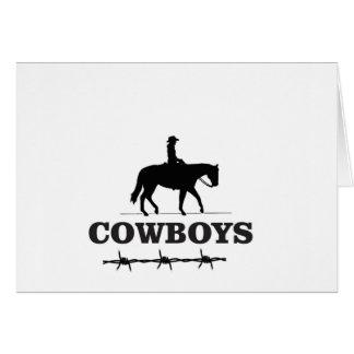 barbed cowboy art card