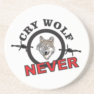 barbed cry wolf no coaster