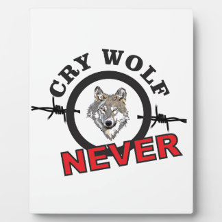 barbed cry wolf no plaque