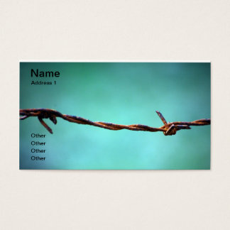 barbed WIRE AGAINST SKY BLUE BACKGROUND RANDOM ABS Business Card